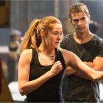 Tris Prior working out with Four in a scene from the Divergent movie series.