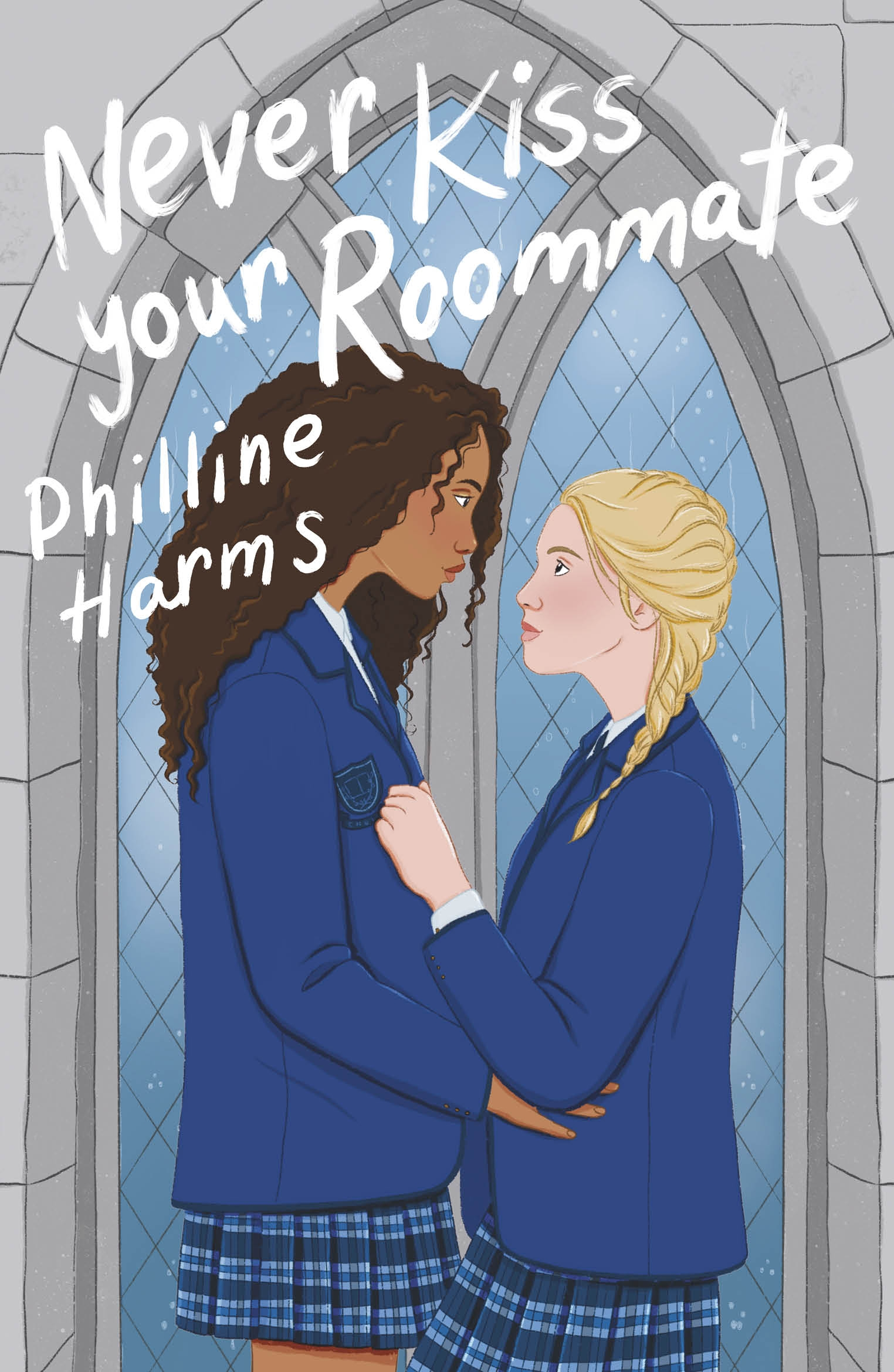 The cover of Never Kiss Your Roommate by Philline Harms