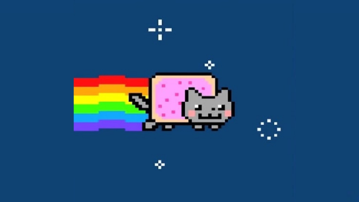 A still from the Nyan Cat YouTube video