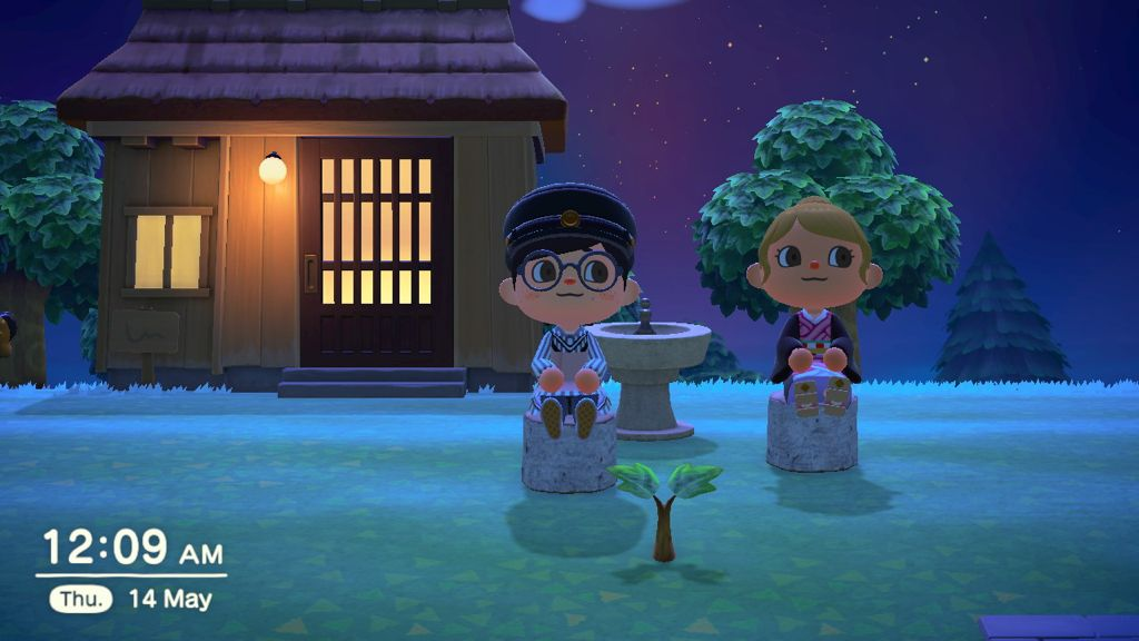 Meeting a friend through Animal Crossing in 2020.