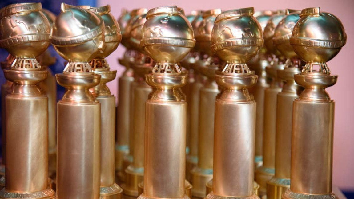 A collection of the Golden Globes awards.