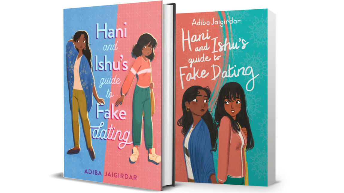 Two covers for the book 'Hani and Ishu's Guide to Fake Dating' by Adiba Jaigirdar.