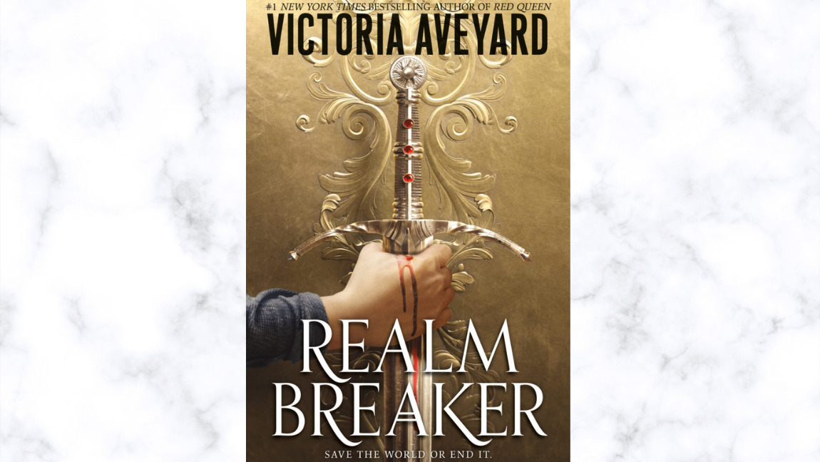 The book cover for Realm Breaker, by Victoria Aveyard.