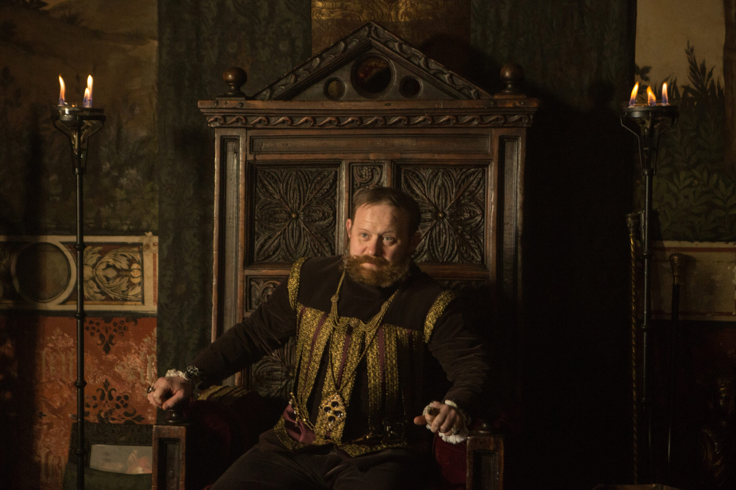 [Image description: Emperor Rudolph in A Discovery of Witches season 2] ©Sky UK Ltd.