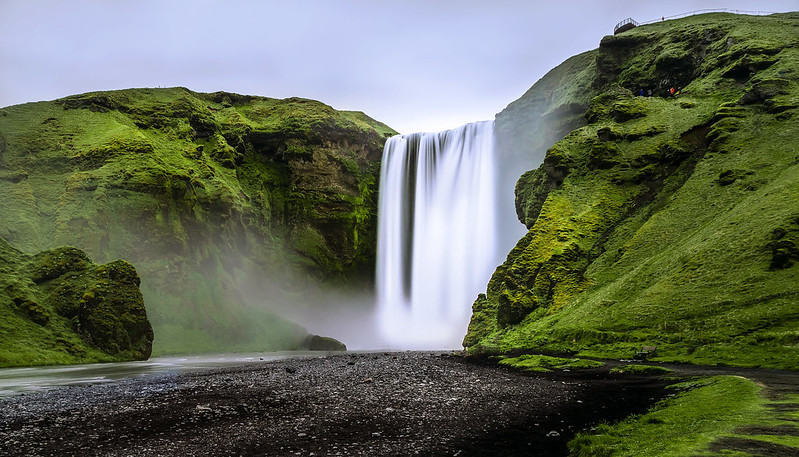 A waterfall in Iceland