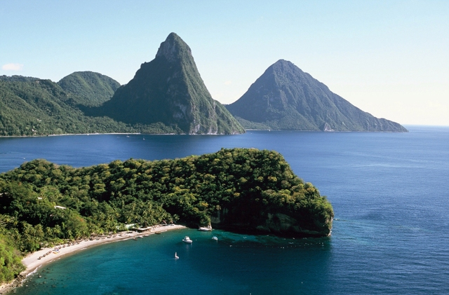 The country of St. Lucia in the Caribbean