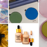 [A collage of cosmetic products]