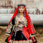 Rita Ora wears a traditional outfit in honor of Kosovo Independence Day