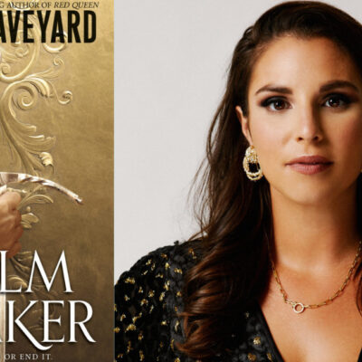 The book cover of Realm Breaker, by Victoria Aveyard, with a photo of Victoria Aveyard.