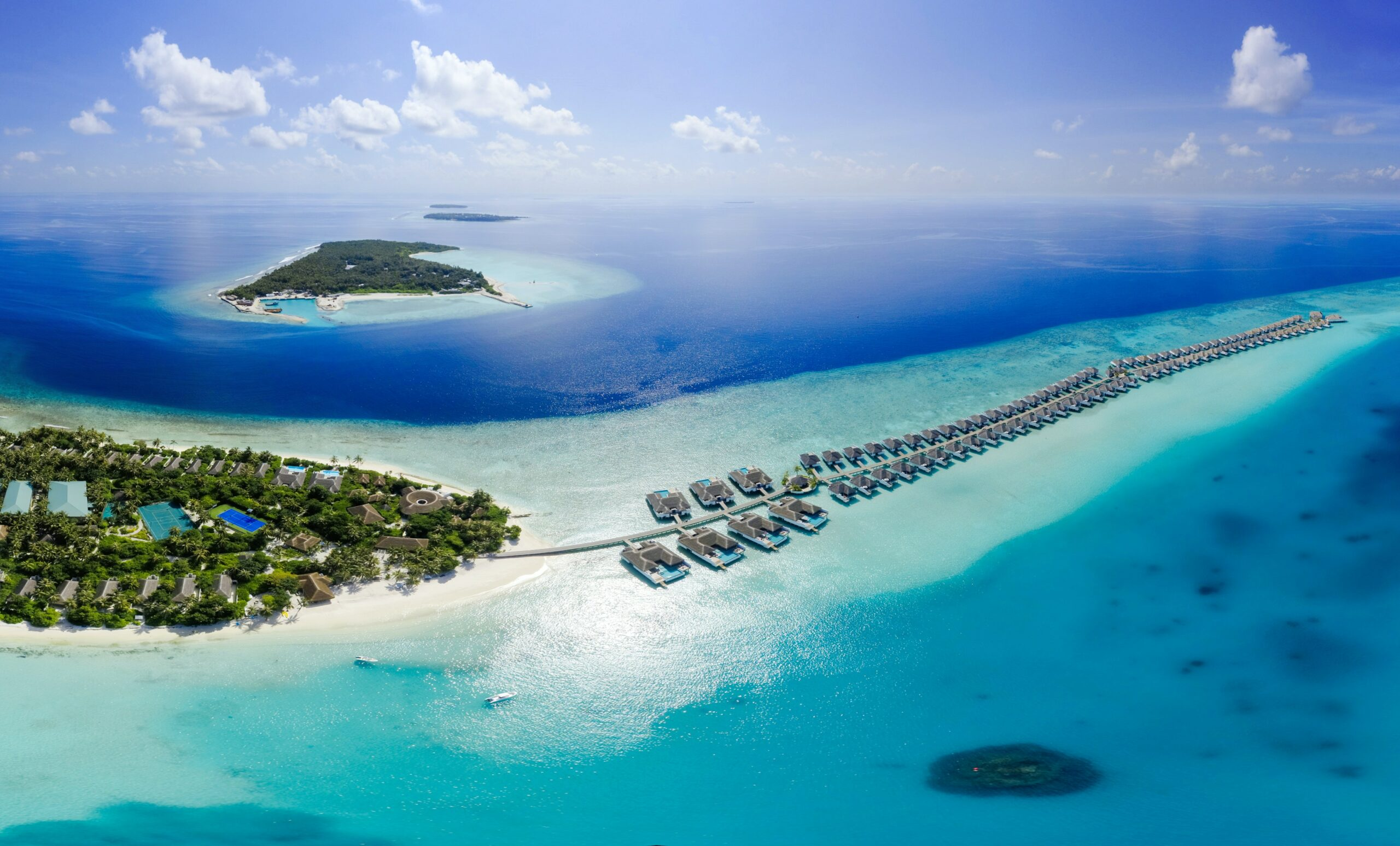 The country of Maldives in South Asia