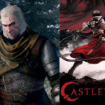 A collage of Witcher and Castlevania.
