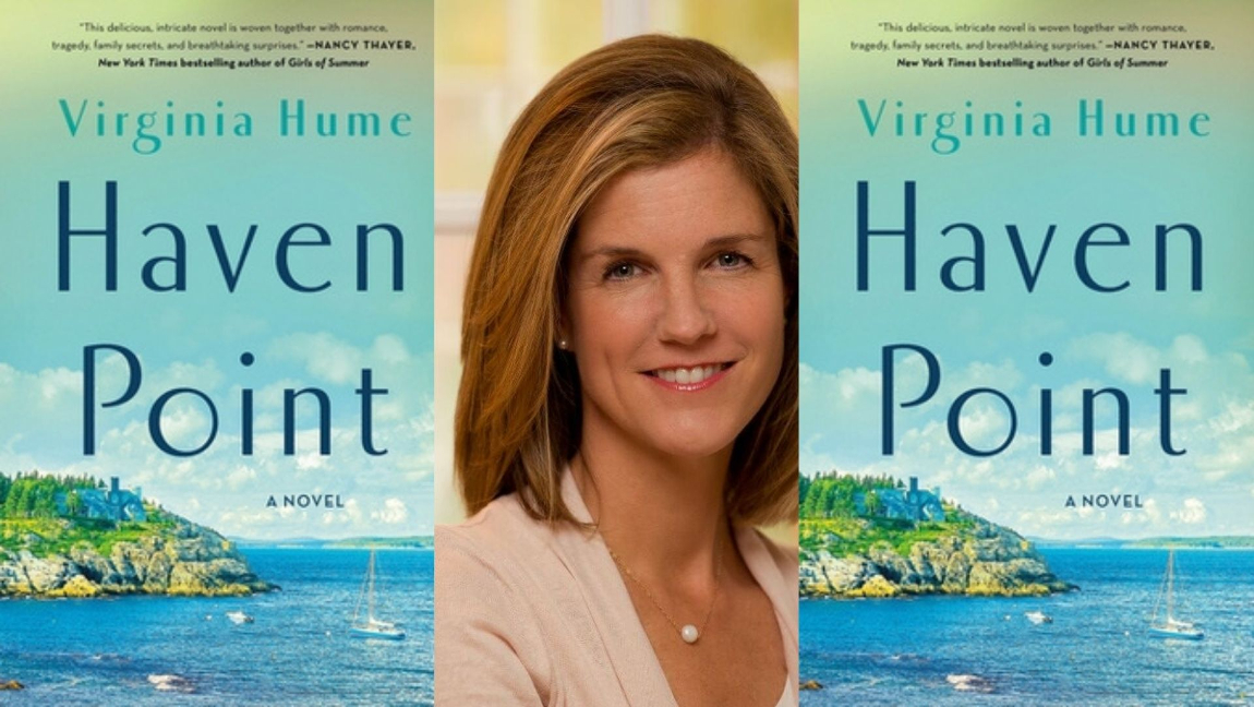 [Image description: The cover of Haven Point and the author, Virginia Hume.] Via Goodreads and Audible.com